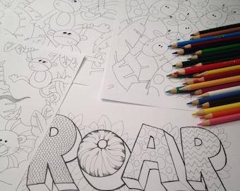 Printable colouring pages - Animal coloring pages - Coloring page - Print and color - Kids coloring - Coloring sheet - Animal Printables