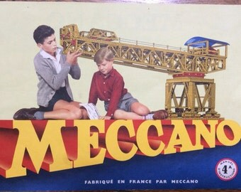 1957 French Meccano Instruction Booklet