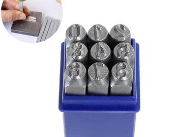 8mm Metal Stamping NUMBER Set, Economy Metal Stamping Set, tol0640