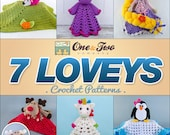 Combo Pack - Choose 7 Loveys / Security Blankets for 20,99 Dollars - PDF Crochet Pattern - Special Offer Pattern Pack