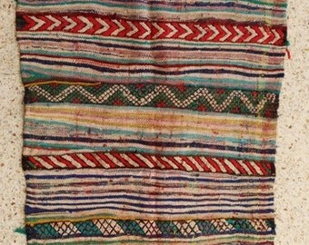 "170X105  cm ( 5' 6"" x 3' 4"") FREE SHIPPING worldwide KL28341 vintage berber kilim rug, flat rug, moroccan rugs , rag rug,morocco carpets"