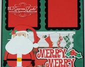 Christmas Santa Premade Scrapbook Page 12x12 Layout Paper Piecing Handmade 9