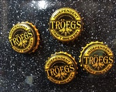 Troegs Brewing Bottle Cap Magnets - Set of 4 - Colorful Bar Decorations - Gifts for Guys or Girls