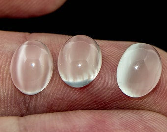 Cat's Eye Moonstone 9 x 7 Cabochon Matched Trio