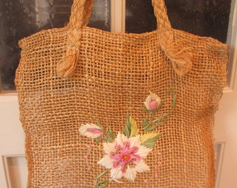 Vintage Made in Philippines Jute Tote