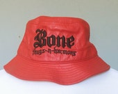 Red Vegan Leather Bone Thugs N Harmony Bucket Hat