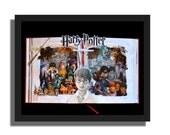 SALE - Harry Potter - Book Sculpture - 16x20x3 Shadowbox Framed