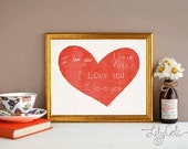Mother's Day Gift Personalized Handwriting Gift for Her from Kids Custom Artwork Home Decor Wall Art Memorial Gift LilyCole