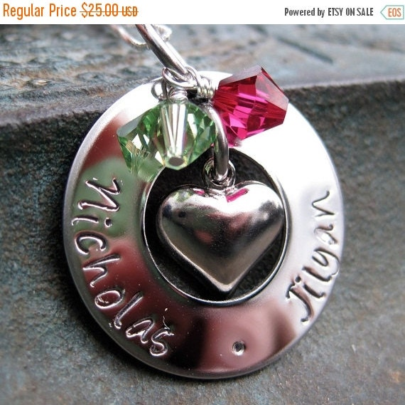 CIJ Valentines Day - Jewelry - Family Necklace - Mothers Necklace - Mommy Necklace - Grandmas Necklace - Personalized Necklace