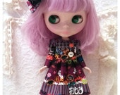 CottonCandyWorkshop Blythe Dress, Halloween pumpkin lace Dress
