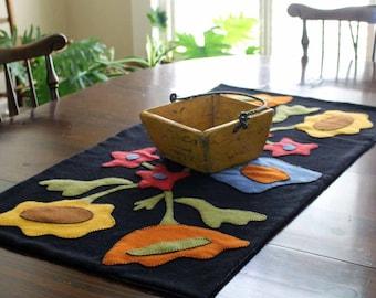 Fall Flowers Table Runner