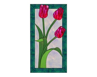 Tulips Stained Glass PATTERN