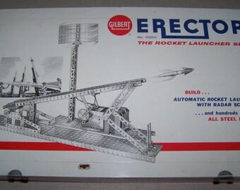 Vintage 1950's Gilbert Erector The Rocket Launcher Set No. 10201