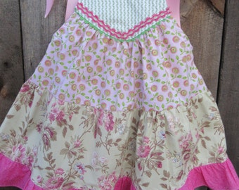 Girls tea party dress,  Birthday Dress, protriate dress, availabe to order 12mos, 18mos 2T,3T,4T,5t