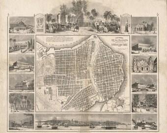 1849 Map of Havana
