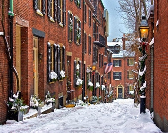 Photograph of Beacon Hill, Boston in Snow