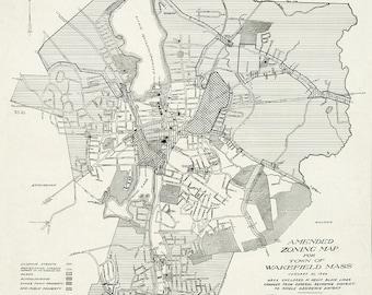 1946 Map of Wakefield, Massachusetts