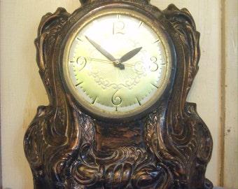 lanshire mantel clock vintage clock 60u0027s mantel clock ceramic clock electric mantel - Mantel Clock