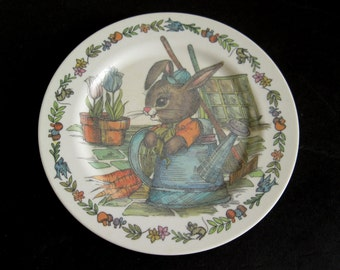 Peter Rabbit Plastic Dishes Oneida Deluxe 3119 Children's Melamine Plate