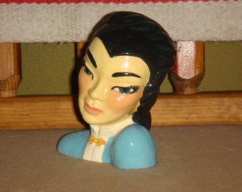 Vintage Mid Century Ceramic Arts Studio Mei-Ling Head Vase circa 1950s