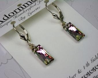Pink Mist  Crystal Earrings
