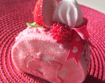 Strawberry rollcake