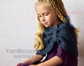 CROCHET PATTERN The Paris Shawl (2/3, 4/5, 6/7, 8/10, 11/13, 14/16 Sizes) Instant Download PDF Crochet Pattern