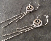 Amrita Earrings with Silver Fringe