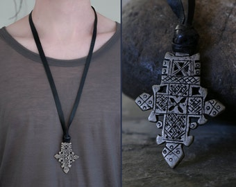 ethnic cross necklace