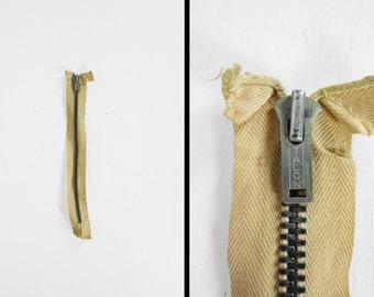 Vintage 1940s Talon Fly Zipper Trouser Replacement 8 3/4 Inch Long Off White Metal Zip