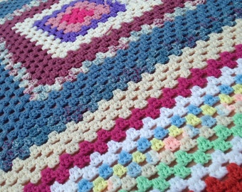 Hand crochetted afghan
