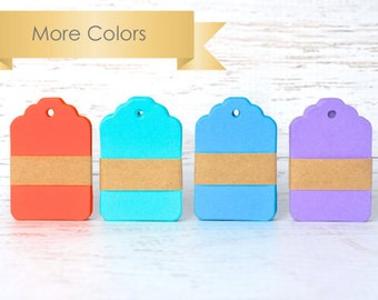 Color mini gift tags scalloped top die cut tags pool collection. Gift Embellishment Hang Tags, Small Tags, Wedding Favor Tags More colors