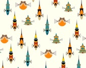 Maritime - Tropical Fish by Charley Harper from Birch Organic Fabric