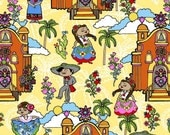 Mexican Folklore - Yellow from David Textiles