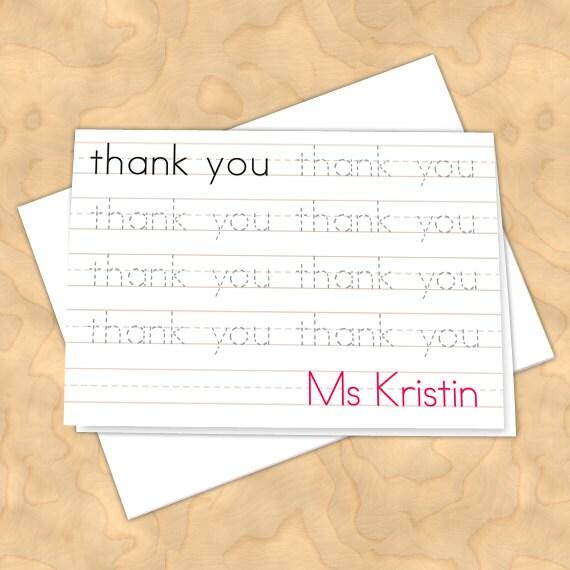 personalized notecards, thank you cards, teacher thank you cards, graduation thank you cards, 4x6 notecards, teacher appreciation, NC126