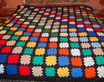 Vintage Afghan Throw Blanket