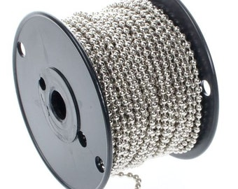 300 ft 1.5mm NPS Ball chain spool,with 200 FREE connectors