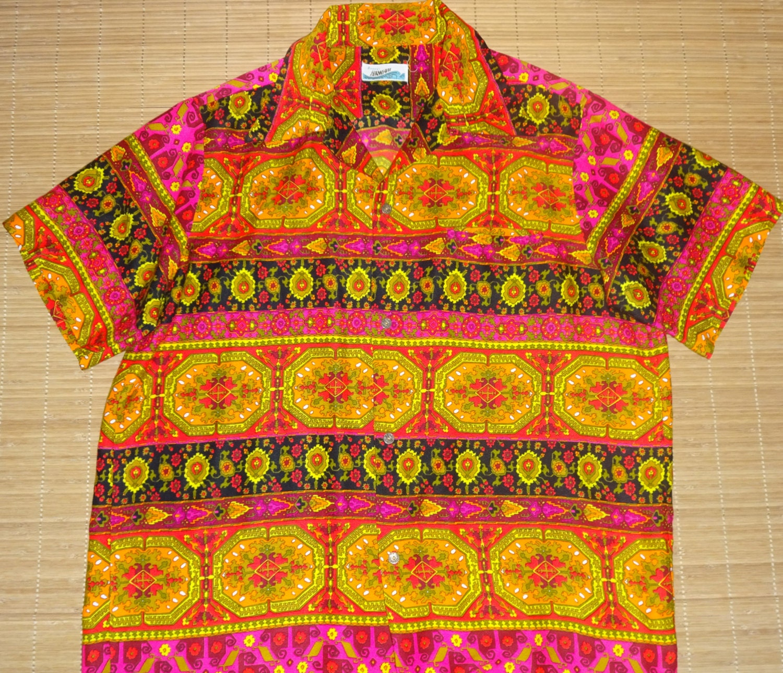 Mens vintage 60s sears mod groove master hawaiian aloha for The hawaiian shirt company