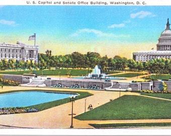 Washington D.C., U.S. Capitol, Senate Office Building - Vintage Postcard - Unused (E)