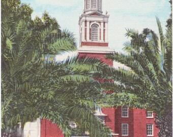 Ocala, Florida, First Presbyterian Church - Linen Postcard - Unused (MM)