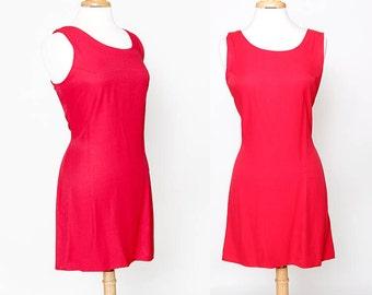 Vintage 90s Red Sleeveless Dress