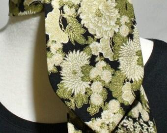 Cotton Scarf, Necktie, Neck Tie, Mini Scarf, Kerchief, Neckerchief, Ascot, Womens Ascot, Womens Necktie, Womens Neck Tie