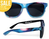 Space Galaxy Nebula Cosmic Custom Wayfarer style sunglasses '80s retro hand painted