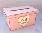 Wedding Card Box Program Holder Crate Rustic Ceremony Decor (YOUR COLOR CHOICE) Personalized