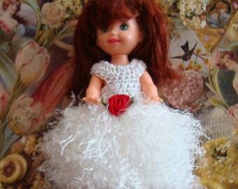 Handmade Crochet Dress For Kelly Barbie number  1055