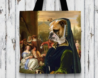 Dog Tote Bag - English Bulldog Tote Bag - English Bulldog Art - English Bulldog   Perfect DOG LOVER Gift for Her Gift for Him