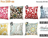 SALE Decorative Toss Pillows- Premier Prints Suzani Pillow Cover- All Sizes- Zippered Pillow- You Choose- Cushion Cover- Throw Pillows