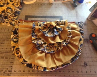 Steampunk Ruffle Bustle Doctor Who Van Gogh Exploding TARDIS