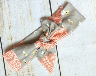 Honeycomb Headband // Organic Cotton Knotted Headband