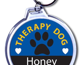Therapy Dog Vest Tag - Personalized & Color Customized
